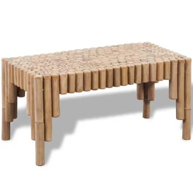 vidaXL Kavos staliukas, bambukinis[1/5]