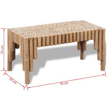 vidaXL Kavos staliukas, bambukinis[5/5]