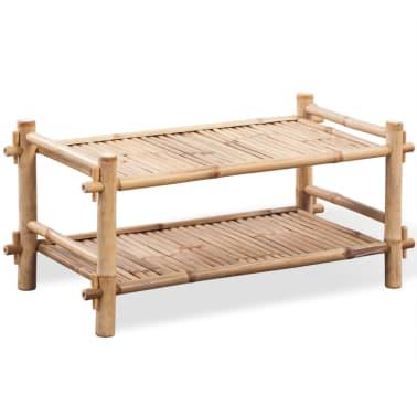 vidaXL 2-Tier Bamboo Shoe Rack[1/5]