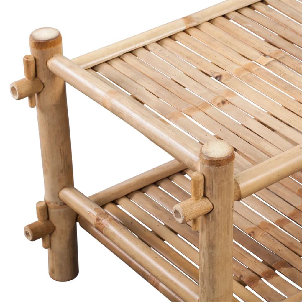 vidaXLSchoenenrek bamboe twee lagen