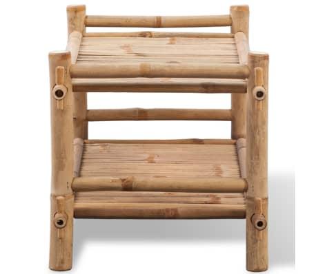 vidaXL 2-Tier Bamboo Shoe Rack[3/5]