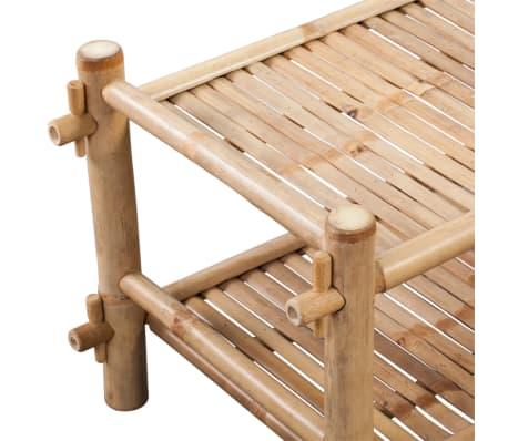 vidaXL 2-Tier Bamboo Shoe Rack[4/5]