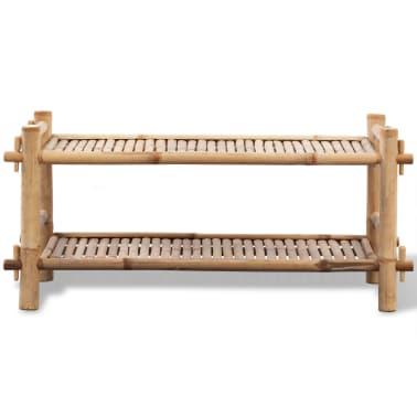 vidaXL 2-Tier Bamboo Shoe Rack[2/5]