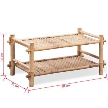 vidaXL 2-Tier Bamboo Shoe Rack[5/5]