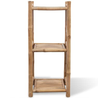 vidaXL 3-Tier Bamboo Shelf Square[2/5]