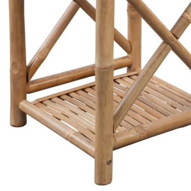 vidaXL 3-Tier Bamboo Shelf Square[4/5]