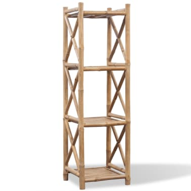 vidaXL 4-Tier Bamboo Shelf Square[1/5]