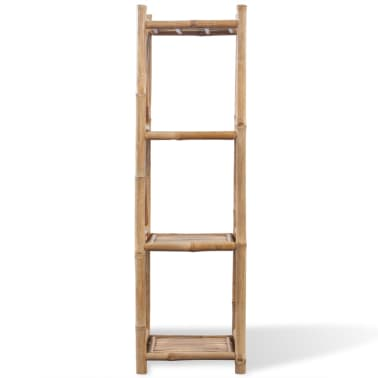 vidaXL 4-Tier Bamboo Shelf Square[2/5]