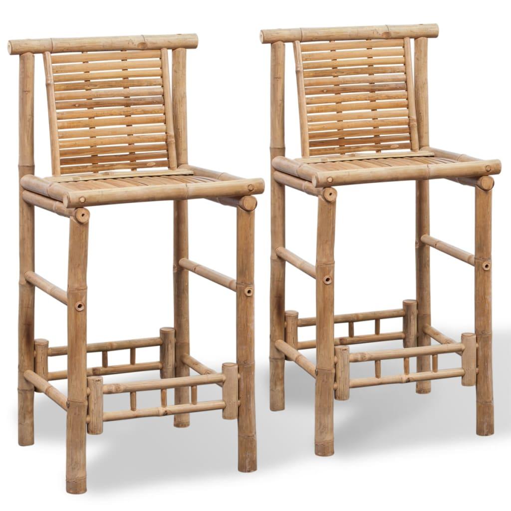vidaXL Scaune de bar, 2 buc., bambus poza 2021 vidaXL