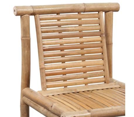vidaXL Bar Stools 2 pcs Bamboo[5/9]