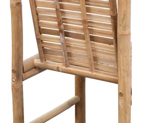 vidaXL Bar Stools 2 pcs Bamboo[7/9]