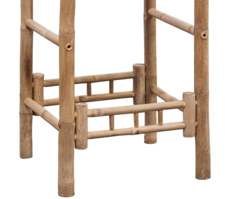vidaXL Bar Stools 2 pcs Bamboo[8/9]