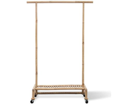 vidaXL Bamboo Clothes Rack[2/6]