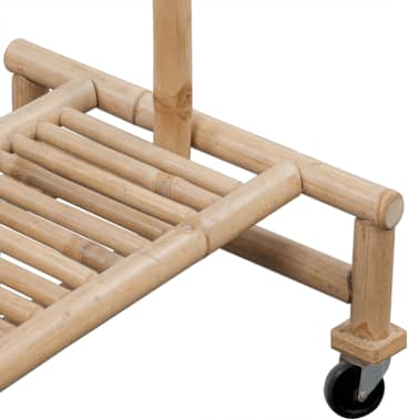 vidaXL Bamboo Clothes Rack[5/6]