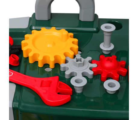 Bancada infantil com ferramentas verde + cinzento[3/5]