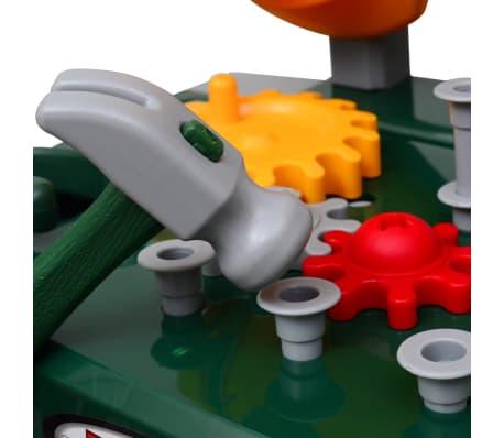 Bancada infantil com ferramentas verde + cinzento[4/5]