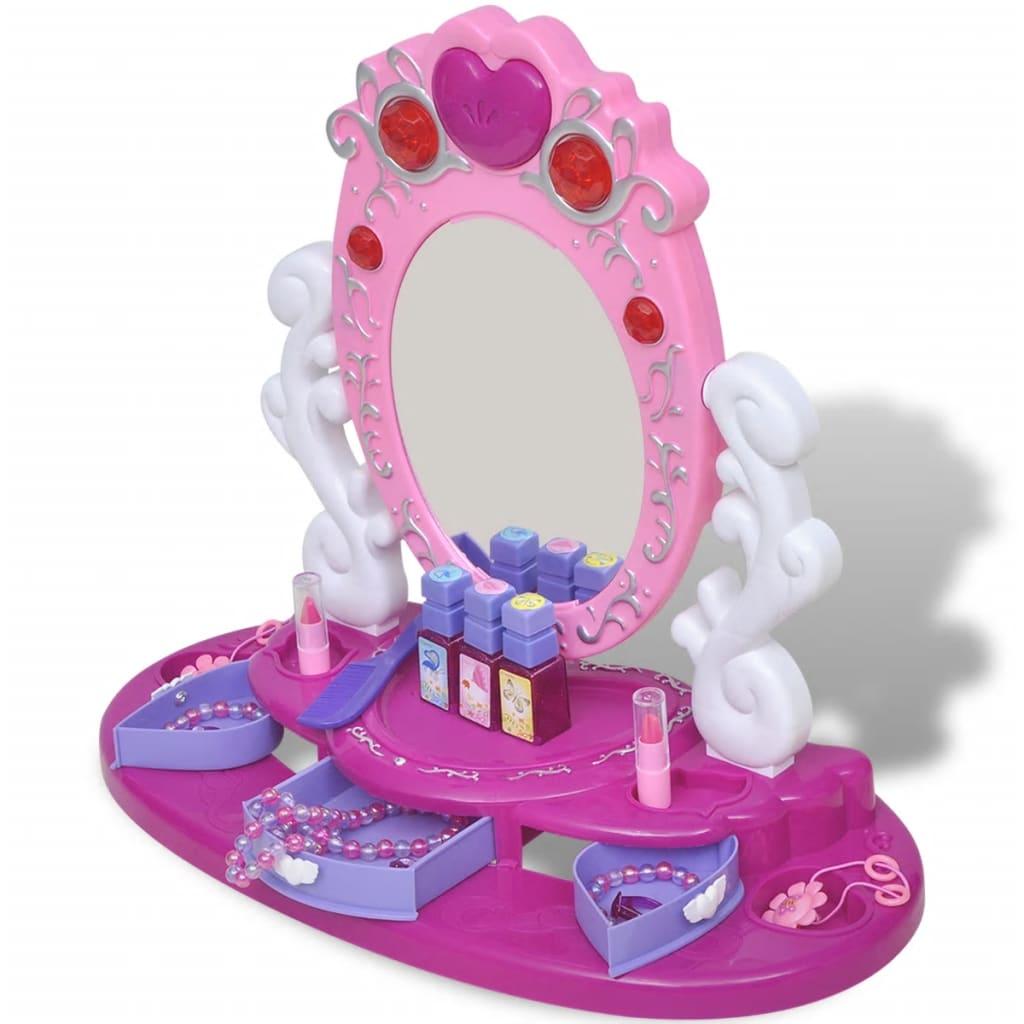 Dětský kosmetický stolek na hraní se světlem/zvukem