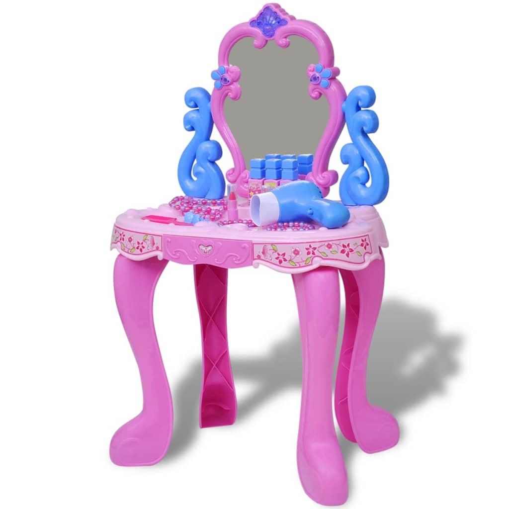 Dětský toaletní stolek na hraní se světly a zvukovými efekty