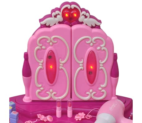 Coiffeuse de jouet avec lumière/son et 3 miroirs pour enfants[5/7]