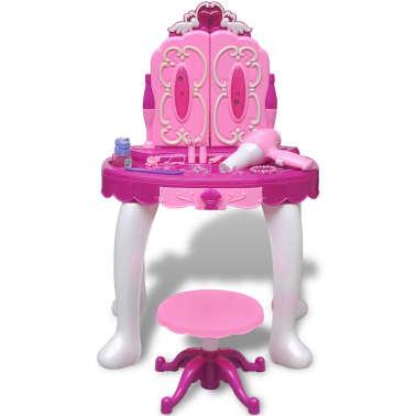 Coiffeuse de jouet avec lumière/son et 3 miroirs pour enfants[2/7]