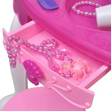 Coiffeuse de jouet avec lumière/son et 3 miroirs pour enfants[3/7]