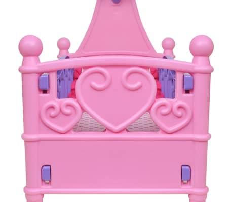 Poppenbed voor kinderen kinderkamer roze + paars[3/4]