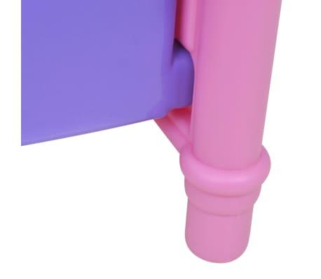 Poppenbed voor kinderen kinderkamer roze + paars[4/4]