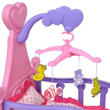 Poppenbed voor kinderen kinderkamer roze + paars[2/4]
