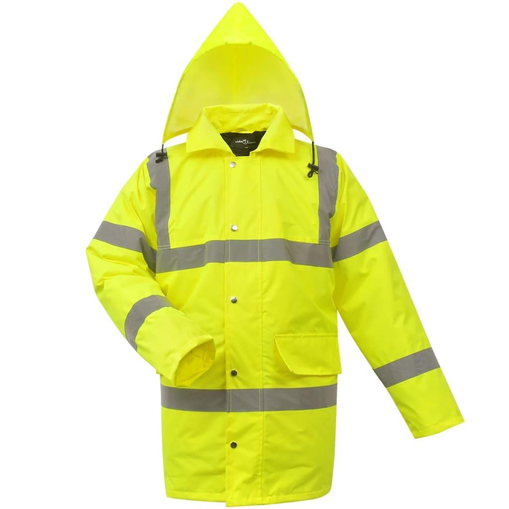 vidaXL Jachetă reflectorizantă pentru bărbați, poliester, M, galben poza vidaxl.ro