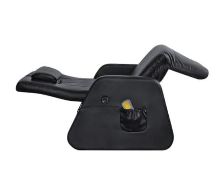vidaXL Sillón de masaje eléctrico gravedad cero cuero artificial negro[4/10]
