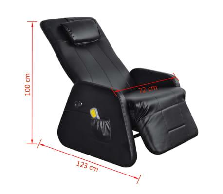 vidaXL Sillón de masaje eléctrico gravedad cero cuero artificial negro[8/10]