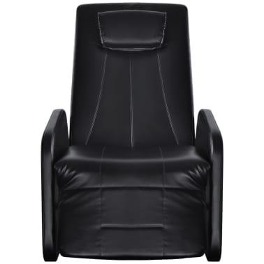 vidaXL Sillón de masaje eléctrico gravedad cero cuero artificial negro[2/10]