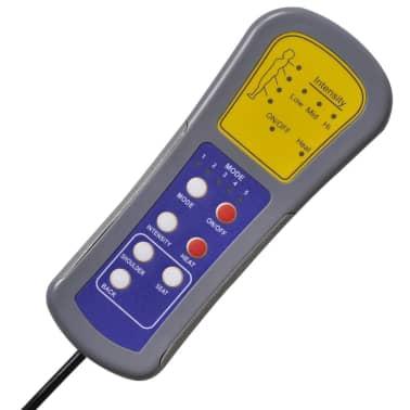 vidaXL Sillón de masaje eléctrico gravedad cero cuero artificial negro[7/10]