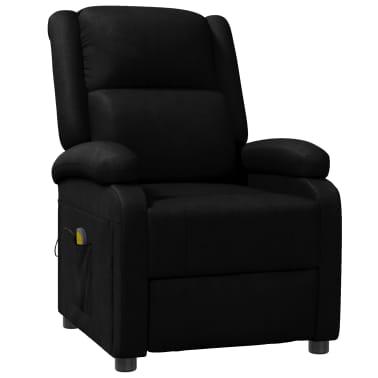 vidaXL Sillón de masaje eléctrico ajustable cuero artificial negro[1/10]