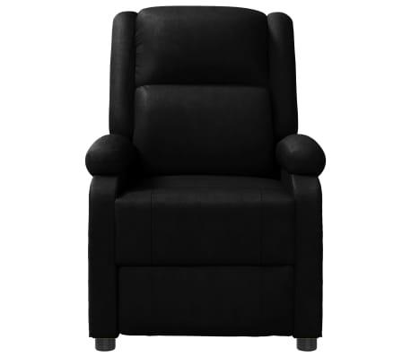 vidaXL Sillón de masaje eléctrico ajustable cuero artificial negro[2/10]