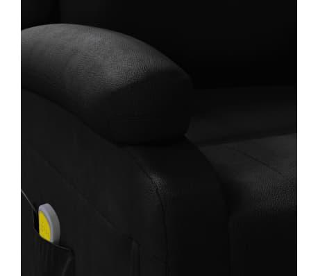 vidaXL Sillón de masaje eléctrico ajustable cuero artificial negro[7/10]