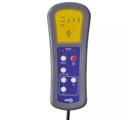 vidaXL Sillón de masaje eléctrico ajustable cuero artificial negro[8/10]