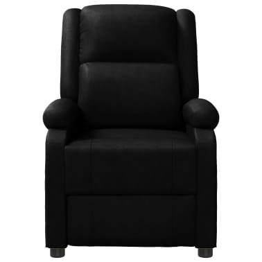vidaXL Masažinis krėslas, juodos spalvos, dirbtinė oda[2/10]
