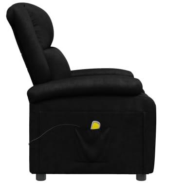 vidaXL Sillón de masaje eléctrico ajustable cuero artificial negro[3/10]