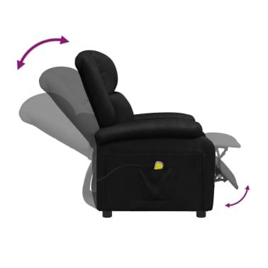 vidaXL Sillón de masaje eléctrico ajustable cuero artificial negro[6/10]