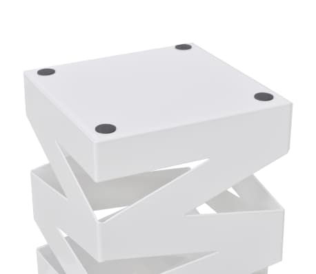 vidaXL Portaombrelli Bastoni Passeggio Quadrato Acciaio 48,5 cm Bianco[3/5]