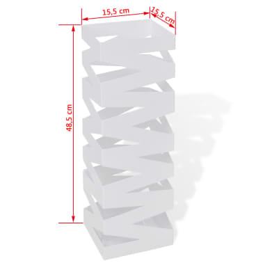 Belo Stojalo za Dežnike in Sprehajalne Palice Jeklo 48,5 cm[5/5]