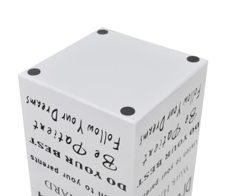 Paragüero de color blanco, cuadrado de acero, 48.5 cm, guarda bastones[4/5]