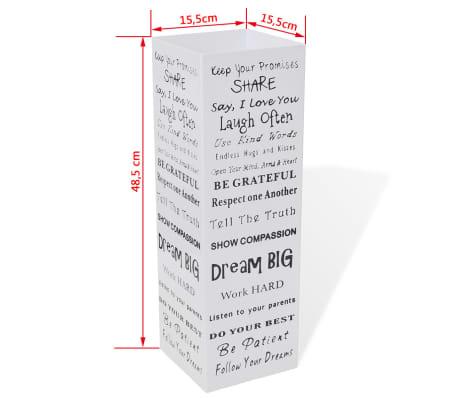 vidaXL Paraplu- en wandelstokhouder wit vierkant + tekst staal 48,5 cm[5/5]