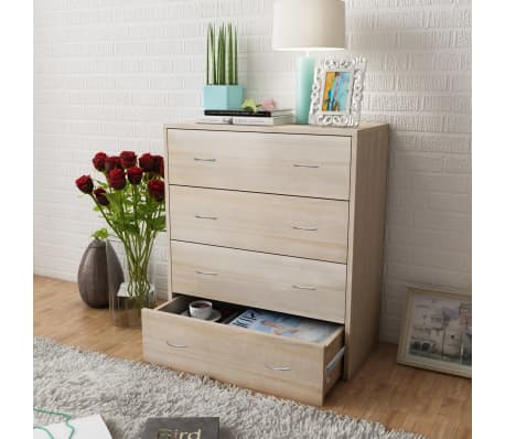 vidaXL Sideboard with 4 Drawers 60x30.5x71 cm Oak Colour[1/6]