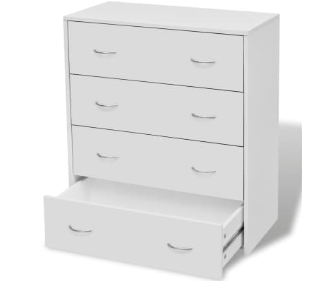 vidaXL Sideboard with 4 Drawers 60x30.5x71 cm White[2/6]