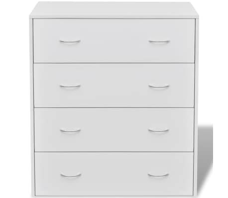 vidaXL Sideboard with 4 Drawers 60x30.5x71 cm White[4/6]