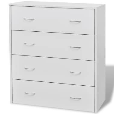 vidaXL Sideboard with 4 Drawers 60x30.5x71 cm White[3/6]