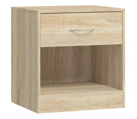 vidaXL Table de chevet 2 pcs avec tiroir Couleur de chêne[5/7]