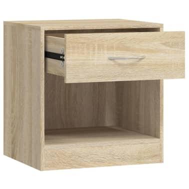 vidaXL Table de chevet 2 pcs avec tiroir Couleur de chêne[6/7]